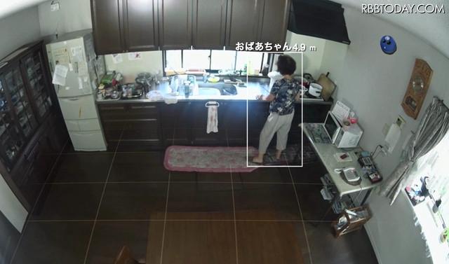 防犯だけでなく高齢者や子供の見守りにも活用できる。AIにより将来的にはカメラに写った物や人、物体の名称を学習・識別することが可能になる(画像はプレスリリースより)
