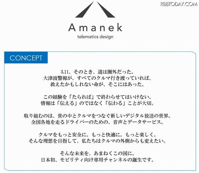 「Amanekチャンネル」コンセプト