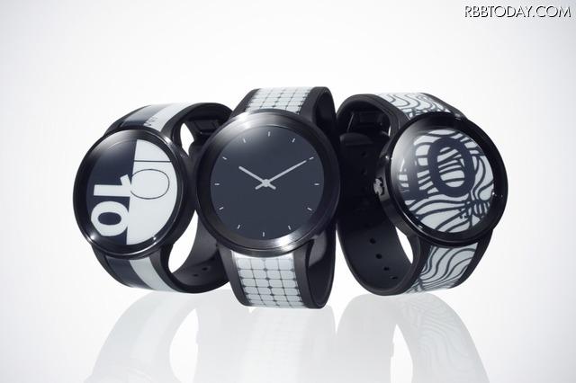 好みのデザインをスマホで追加!電子ペーパー搭載で柄が変わる「FES Watch U」が展示