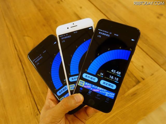 iPhone 7で通信速度をチェック