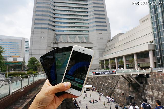横浜みなとみらい周辺の人気観光スポットでiPhone 7による各キャリアの通信速度をテストした