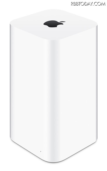最大1.3Gbpsの転送速度を実現。共通のボディデザインを採用した「AirMac Extreme」「AirMac Time Capsule」