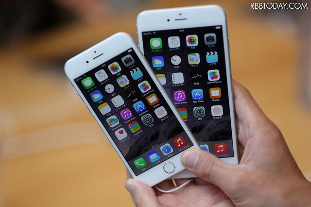 2014年に発売されたiPhone 6シリーズ この端末から、高速無線LAN規格「IEEE802.11ac」に対応した。 (C)Getty Images