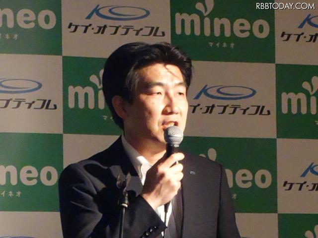 経営本部モバイル事業戦略グループグループマネージャーの上田晃穂氏