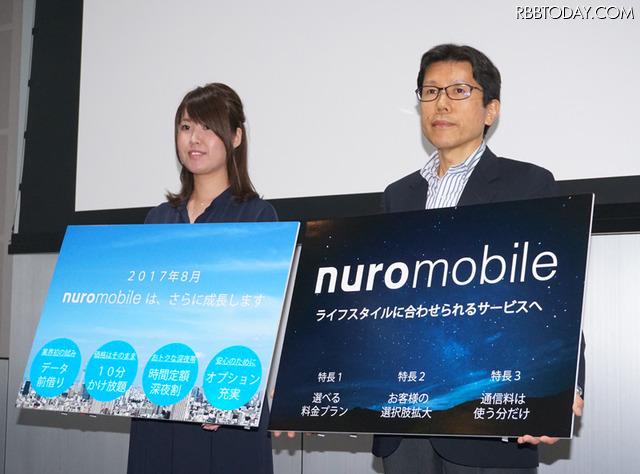 nuroモバイルが新サービスの発表会を開催した