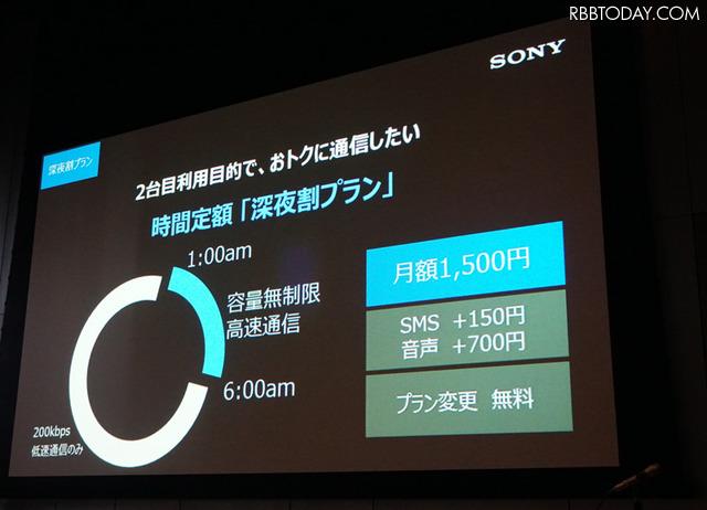 深夜1時から6時までの5時間が高速データ通信使い放題になる「深夜割プラン」