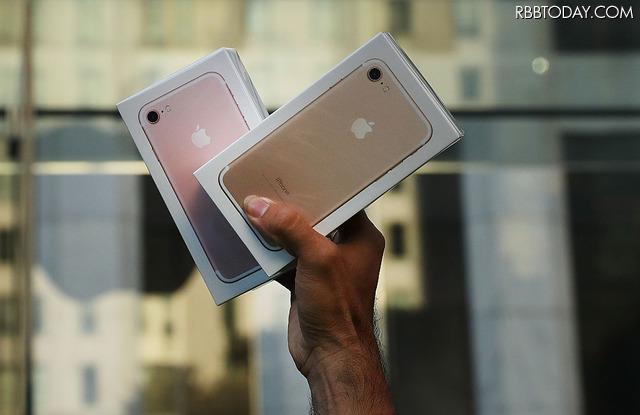 昨年発売されたiPhone 7(C)Getty Images
