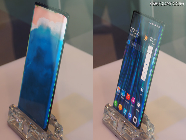 スマートフォンの新しいカタチ「完全ベゼルレス」や「折りたたみ型」モデルをTCLが展示