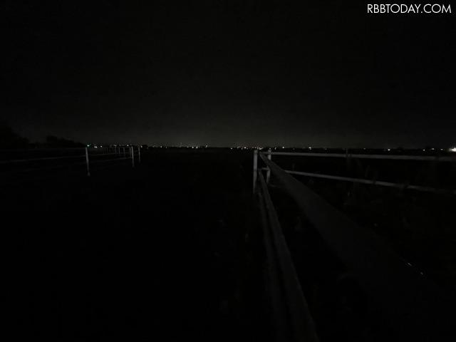 超広角カメラ、ナイトモードオフで撮影