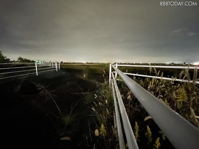 超広角カメラ、ナイトモードで撮影