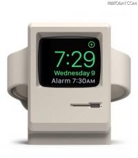 まるでミニチュアのMacintosh!Apple Watchの充電キット「W3 Stand」